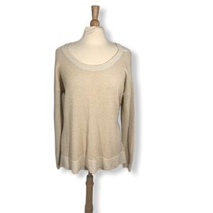 Michael Kors Cold Shoulder Shimmer Sweater